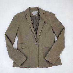 Asos Womens Sz8 Olive Green Blazer